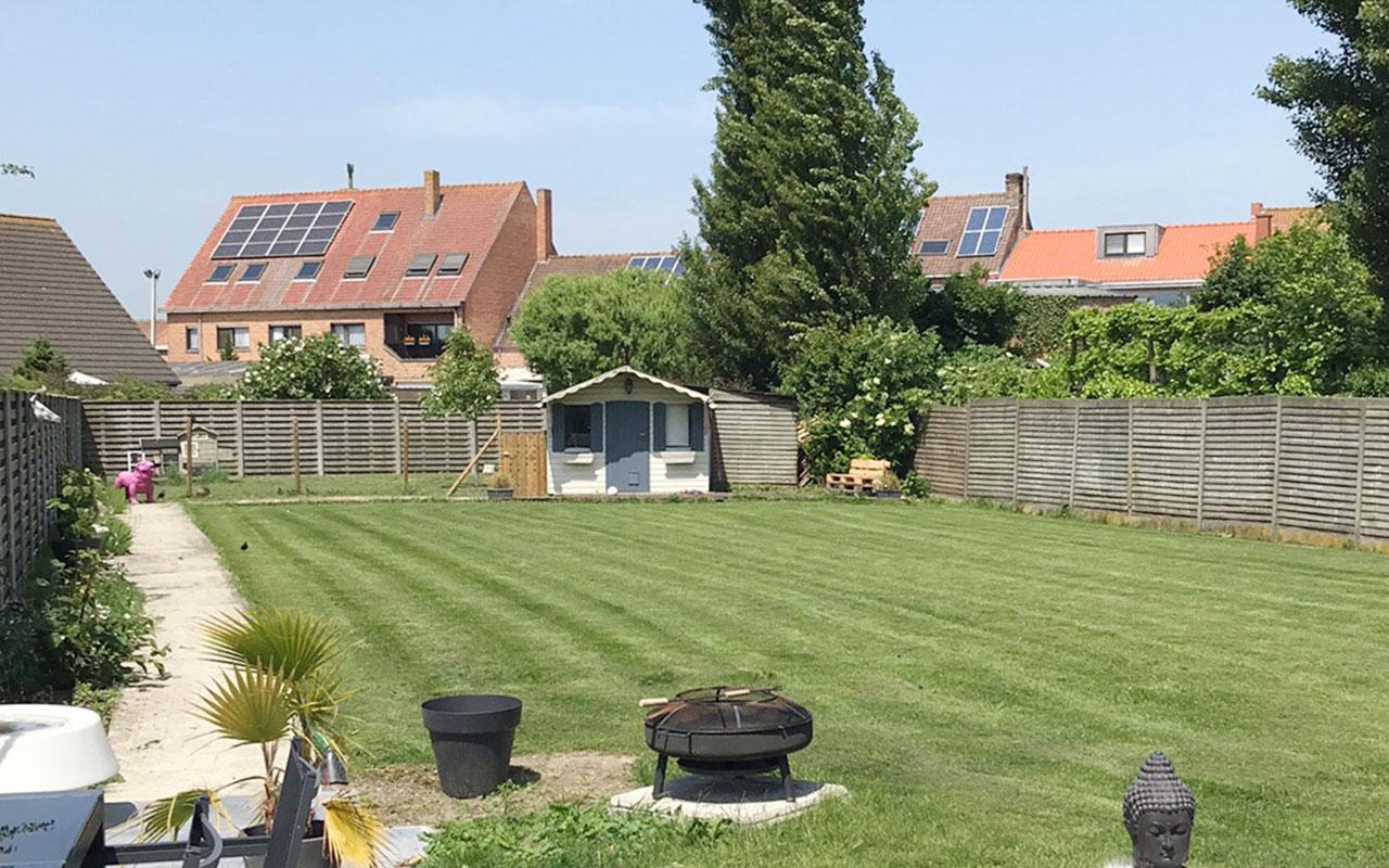 Grote tuin en terras